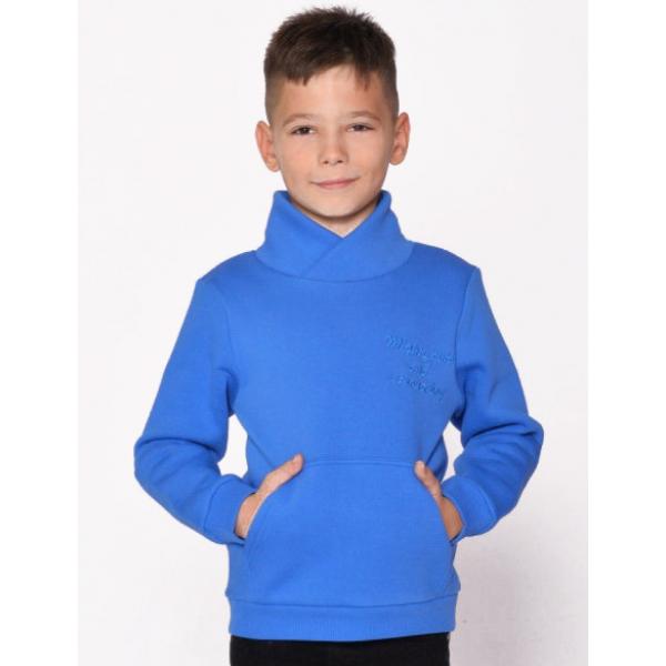 20-1261-8 Толстовка утепленная для мальчика, 3-7 лет, голубой