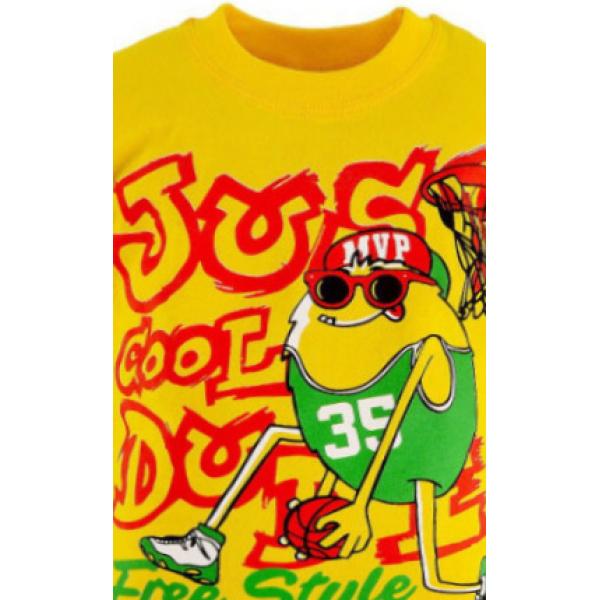 47-140102-12 Футболка для мальчика, 1-4 года, желтый