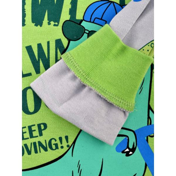 17-2513224 Пижама для мальчика, 2-5 лет, зеленый