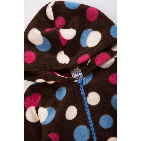 20-015-2 Толстовка флисовая для девочки, 3-7 лет, коричневый