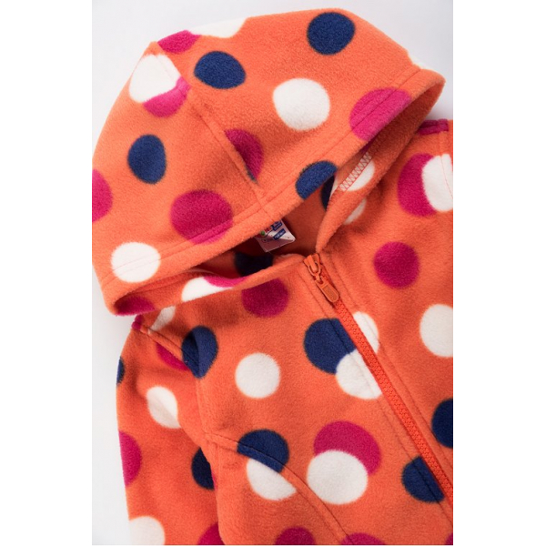 20-015-3 Толстовка флисовая для девочки, 3-7 лет, оранжевый