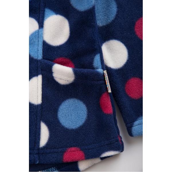 20-015-1 Толстовка флисовая для девочки, 3-7 лет, синий