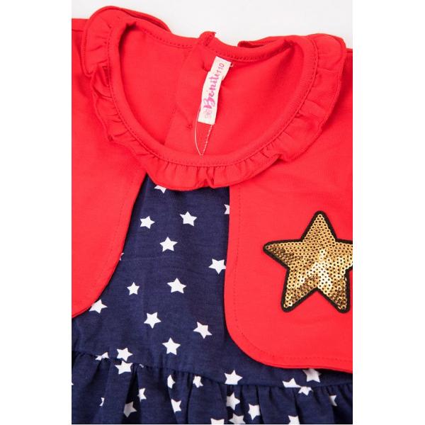 20-112503 Платье для девочки, 2-6 лет, красный