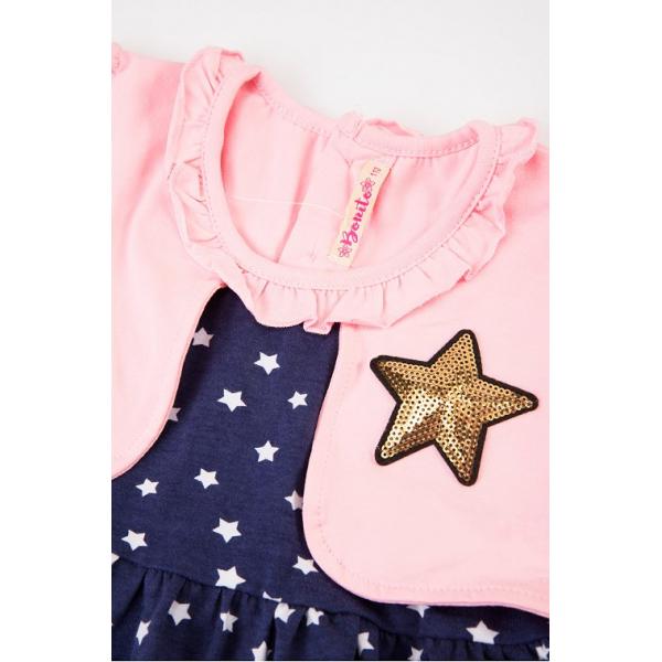 20-112501 Платье для девочки, 2-6 лет, розовый