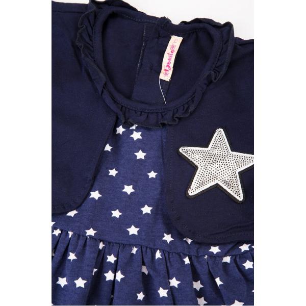 20-112504 Платье для девочки, 2-6 лет, синяя ночь