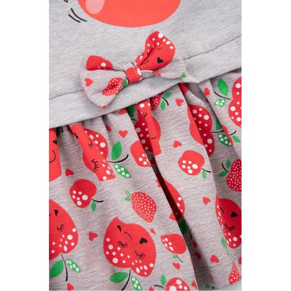 20-8351 Платье для девочки, 2-6 лет, меланж
