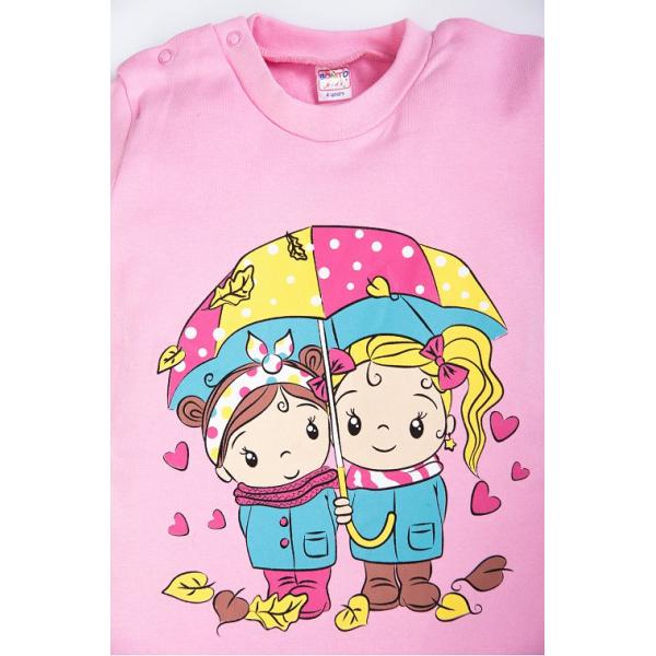 20-006201 Джемпер для девочки, 1-4 года, розовый