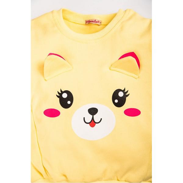 "20-122221D ""Pretty Muzzle"" Джемпер для девочки, 2-5 лет, желтый"