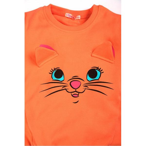 "20-122224D ""Pretty Muzzle"" Джемпер для девочки, 2-5 лет, оранжевый"