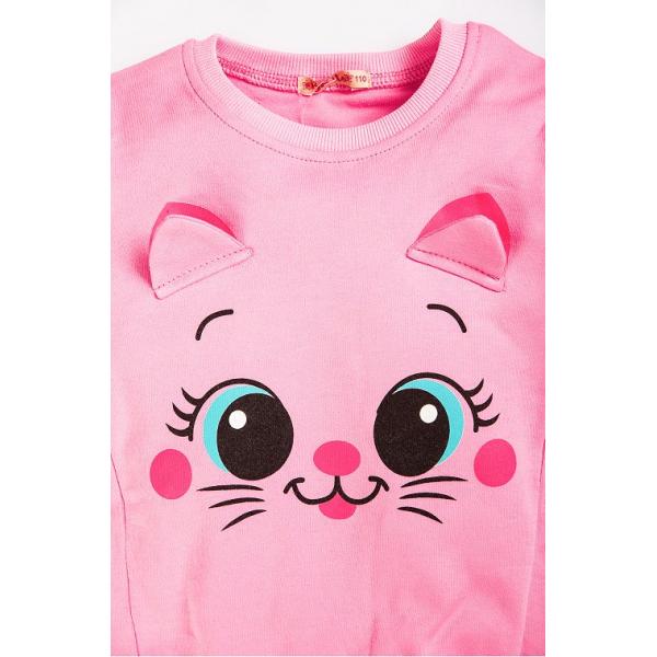 "20-122226D ""Pretty Muzzle"" Джемпер для девочки, 2-5 лет, розовый"