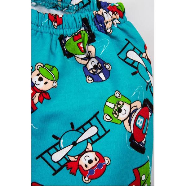 """20-125113 """"Pilot"""" Пижама утепленная для мальчика, 2-6 лет, бирюзовый"""