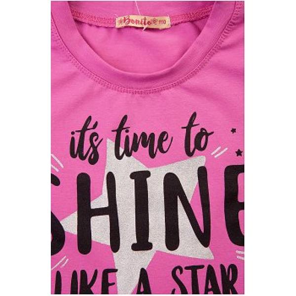 20-12682 Платье для девочки из фуллайкры, 3-7 лет, розовый