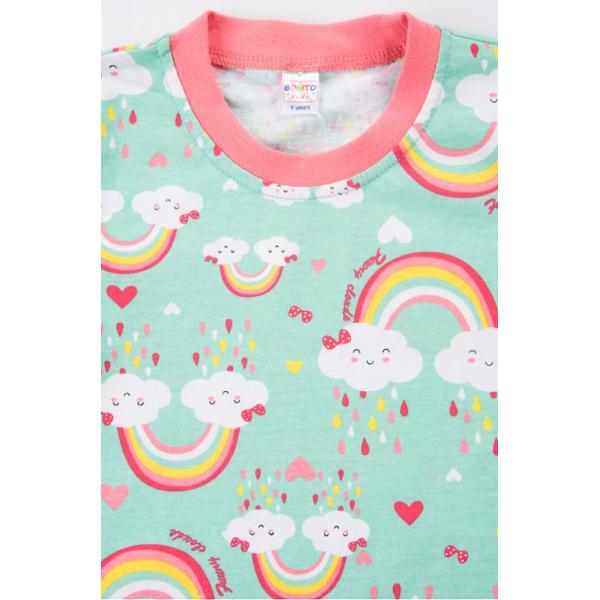 20-3000-4 Пижама для девочки, 2-6 лет, ментол