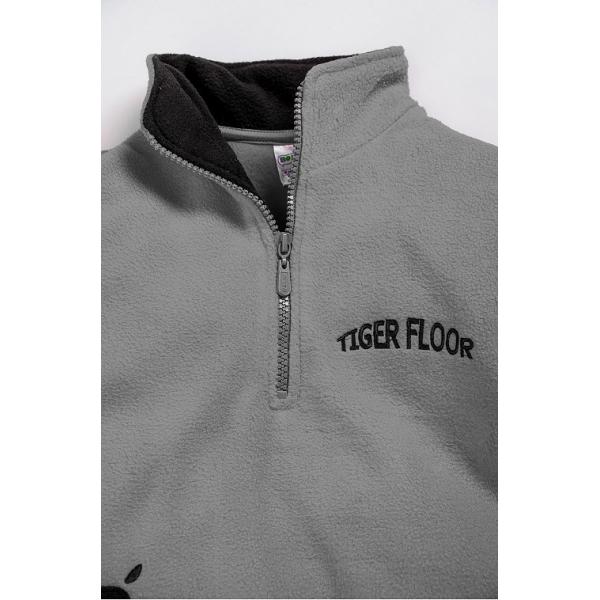 """20-4302OP """"Tiger Floor""""  Толстовка для мальчика, поларфлис, 3-7 лет, серый"""