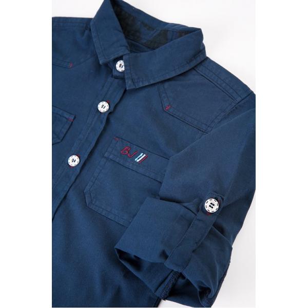 20-8362b Рубашка для мальчика, поплин, 6-10 лет, т-синий
