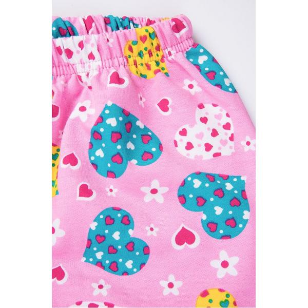 """20-95525 """"Love"""" Пижама утепленная для девочки, 7-10 лет, розовый"""