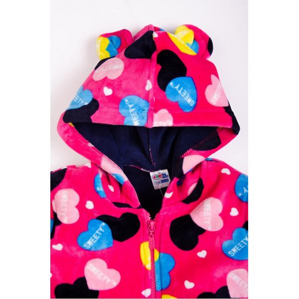 """20-04905k Куртка с """"Ушками""""для девочки, велсофт, 2-5 лет"""