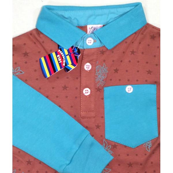 47-1458702 Рубашка поло (длин. рук.) для мальчика