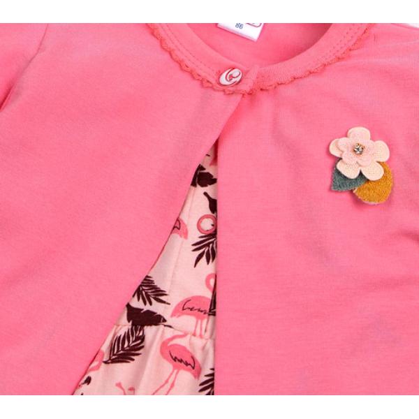 20-33604К Комплект: боди-платье, кофточка для девочки, 68-86*