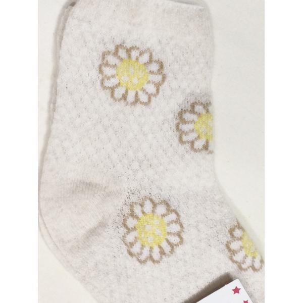 "L-0138 ""Ромашки"" Носки для девочки, лен"