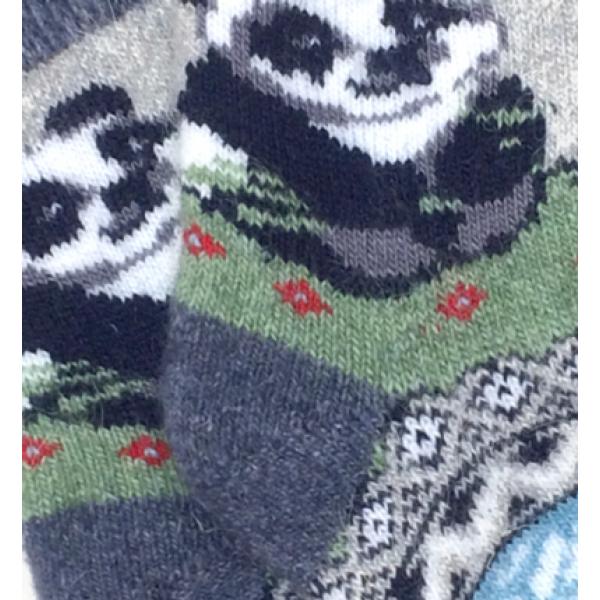 """Pn-037 """"Панда"""" Носки шерстяные, 18-20"""
