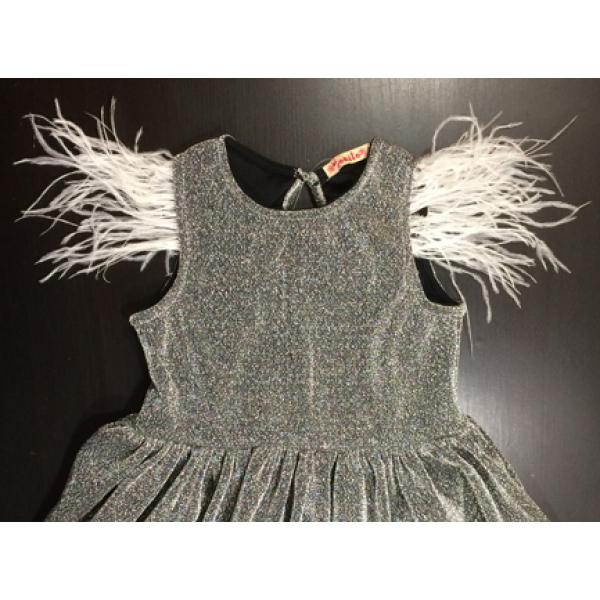 20-13411 Нарядное платье для девочек, 2-6 лет