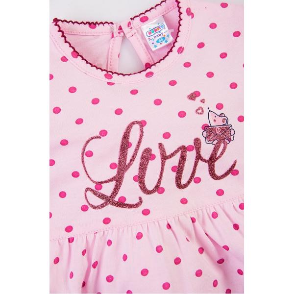 20-27903 Платье для малышки, 68-86, розовый