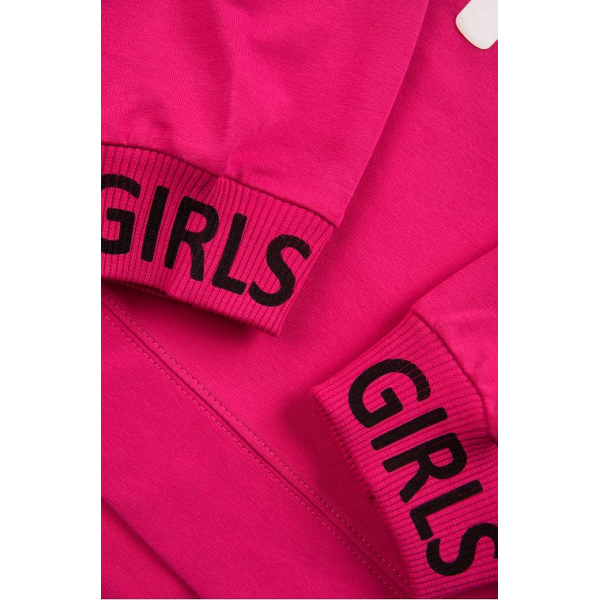 """20-1239-5 """"Girls"""" Костюм для девочки, 5-8 лет, малиновый"""