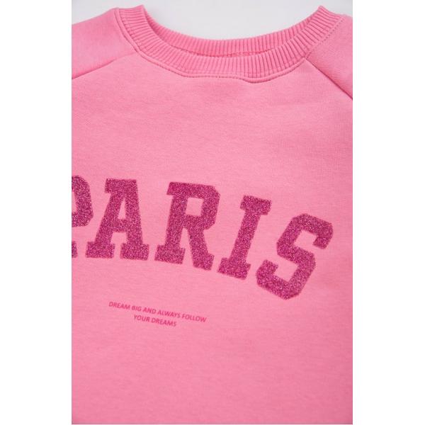 """20-1262-5 """"Paris"""" Толстовка утепленная для девочки, 3-7 лет, капучино*"""