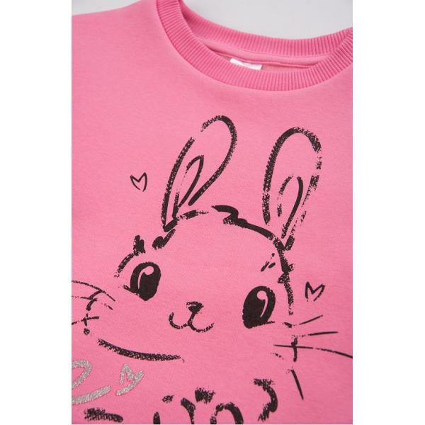 20-1263-2 Свитшот утепленный для девочки, 2-5 лет, розовый