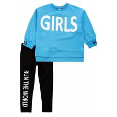 """20-1239-2 """"Girls"""" Костюм для девочки, 5-8 лет, голубой"""