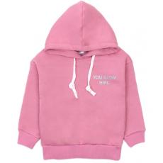 20-1257-1 Толстовка утепленная для девочки, 3-7 лет, розовый