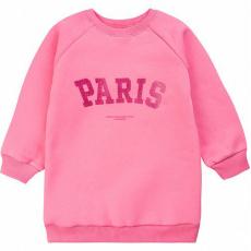 """20-1262-5 """"Paris"""" Толстовка утепленная для девочки, 3-7 лет, розовый"""