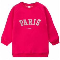 """20-1262-2 """"Paris"""" Толстовка утепленная для девочки, 3-7 лет, малиновый"""