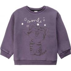 20-1263-5 Свитшот утепленный для девочки, 2-5 лет, т-серый