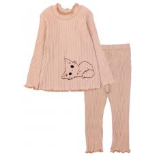 20-1303-6 Пижама для девочки, кашкорсе,  74-98, бежевый