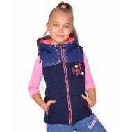20-03601 Жилет с капюшоном для девочки, 7-11 лет, розовый