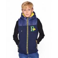 20-03604 Жилет с капюшоном для мальчика, 7-11 лет, желтый