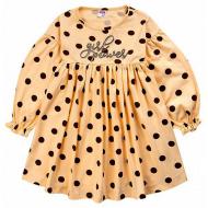 20-12935 Платье для девочки, 3-7 лет, бежевый
