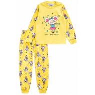 20-14582-2 Пижама для девочки, 1-4 года, лимонный