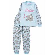 20-14582-4 Пижама для девочки, 1-4 года, голубой