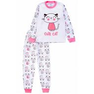 20-14582-5 Пижама для девочки, 1-4 года, белый
