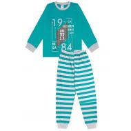 20-149211 Пижама для мальчика, 7-11 лет, изумрудный