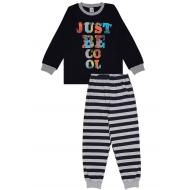 20-149212 Пижама для мальчика, 7-11 лет, т-синий