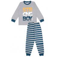20-149215 Пижама для мальчика, 7-11 лет, меланж