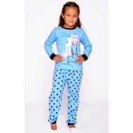 20-149222 Пижама для девочки, 7-11 лет, голубой