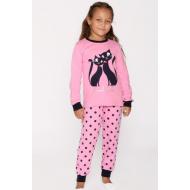 20-149223 Пижама для девочки, 7-11 лет, розовый