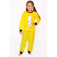 20-149224 Пижама для девочки, 7-11 лет, желтый