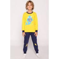 20-1548-5 Пижама для мальчика, 3-7 лет, желтый