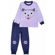 20-15482-1 Пижама для девочки, 3-7 лет, лиловый